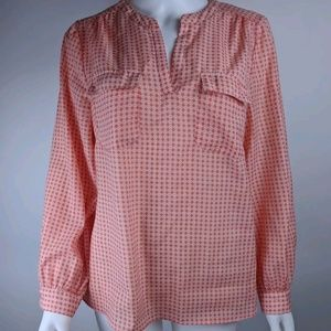 Cynthia Rowley Large Blouse Popover Geometric